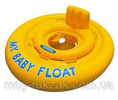 Надувной детский круг-плот Pool School, Intex 56585, серия «Школа плавания», с трусиками 70 см