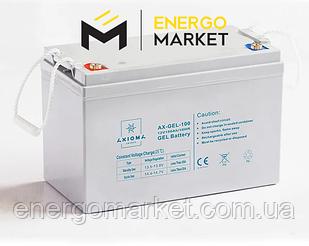 Аккумулятор гелиевый AXIOMA energy AX-GEL-100 (12 В, 100 А/ч)