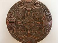 """Тарілка дерев'яна """"Трепільський орнамент""""ручної роботи різьбленна 40 см"""