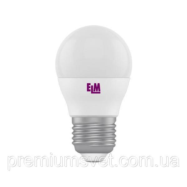 Лампа ELM Led сфера 4W PA10 E27 4000 D45 (18-0085)