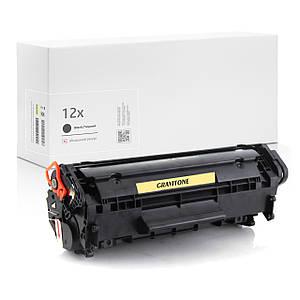 Картридж совместимый HP 12X (Q2612X), повышенный ресурс, 3.000 копий, аналог от Gravitone (GTH-CRG-Q2612X-BK)