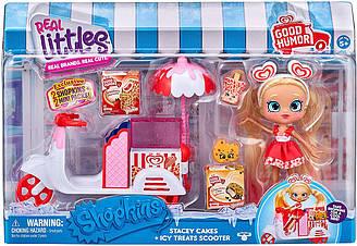 ShopkinsШопкинсСтейсина скутере Real Littles Stacey Cakes оригинал от Moose