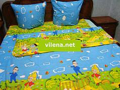 Детское полуторное постельное белье Незнайка