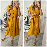 Платье летнее с поясом в расцветках 52406, фото 1