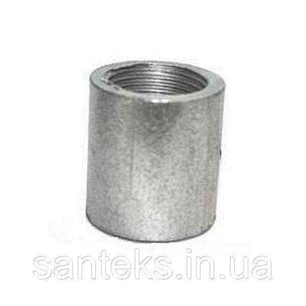 Муфта сталева оцинкована приварнная ДУ 50*5,0