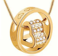 Оригинальный кулон с цепочкой Ring Heart
