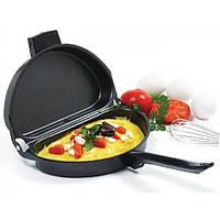 Двойная складная сковорода для омлета с антипригарным покрытием Folding Omelette Pan, фото 1