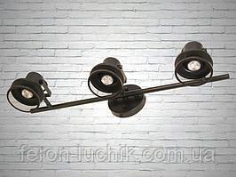 Светильник настенно потолочный Лофт Черный под сменную лампу GU10