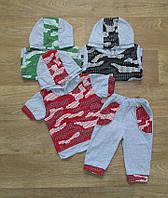 """Летний костюм на мальчика камуфляж """"Футболка с бриджами"""", детская одежда, кулир"""