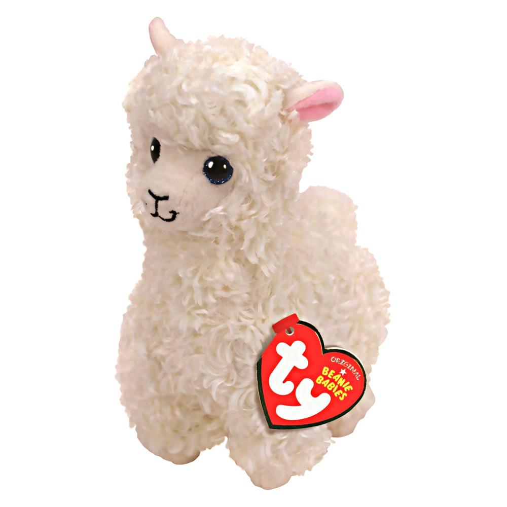 Мягкая игрушка кремовая лама Лили 21 см. Оригинал TY 41216