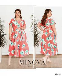 Летнее женское платье для полных женщин большого размера 52-54,56-58,60-62