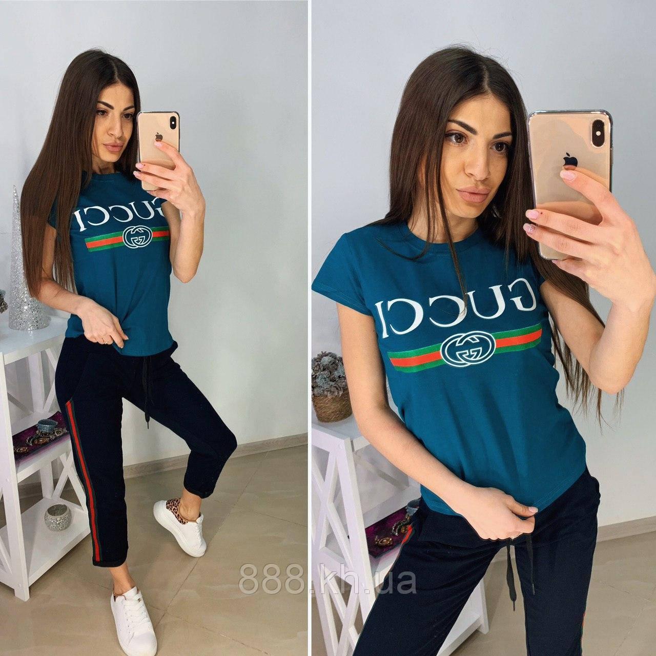 Модная женская футболка Gucci S/M/L/XL