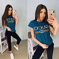 Модная женская футболка Gucci S/M/L/XL, фото 1