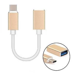 Кабель USB переходник USB Type-C на USB 3.0 USB-A, OTG, 10 см