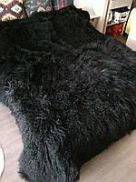 Покривало з лами чорного кольору