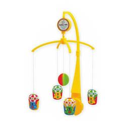 Мобыль детский пластиковый самозаводной с игрушками Baby Mix SK/20034АS, Мишки на воздушном шаре (3420)