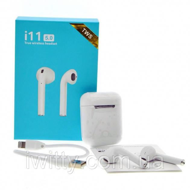 Бездротові навушники TWS i11 Bluetooth SuperBass сенсорні