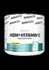 Метилсульфонилметан МСМ с витамином C BioTech MSM + Vitamin C (150 г) биотеч лимон