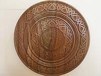 Тарілка дерев'яна ручної роботи різьбленна 44,5 см