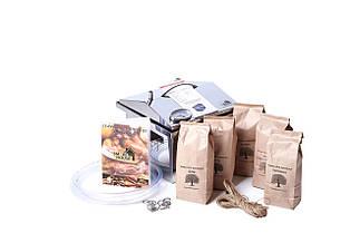 """Коптильня з гідрозатворів з термометром Домашня кришка """"Будиночок"""" з нержавіючої сталі (300х300х250)"""