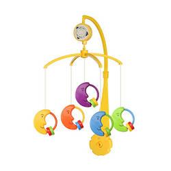 Мобыль детский пластиковый самозаводной с игрушками, Луна Alexis Baby Mix, 36х9,5х51,5 см. (SK/20035В)