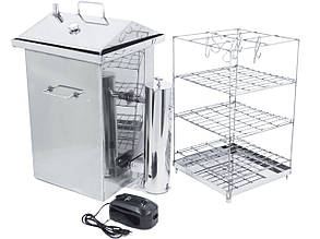 """Вертикальна Коптильня холодного і гарячого копчення Домашня з нержавійки з компресором """"Home pro smoking"""""""