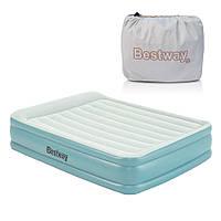 Двухспальная надувная кровать со встроенным электронасосом Bestway 67708 (203-152-46 см)