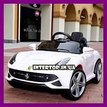 Детский электромобиль Ferrari на пульте, M 3176EBLR-2  белый. Машина на пульте Феррари