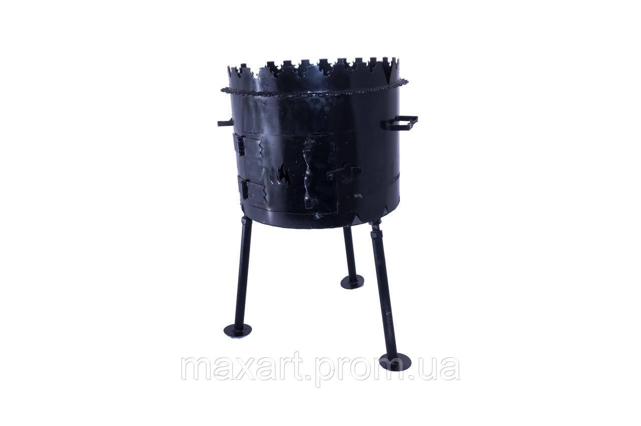 Мангал складной DV - 350 x 300 x 3 мм, горячекатаный
