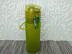 Бутилка (бутилочка)  для воды спортивная 500 мл, фляга для воды, бутылка с карабином