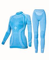 Комплект женского термобелья Haster Merino Wool XS Синий, фото 1