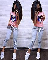 Стильная женская футболка с паетками S/M/L/XL, фото 1