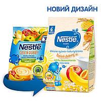 Каша молочна рисово-кукурудзяна Nestle з яблуком, бананом та абрикосом, 9+, 230г