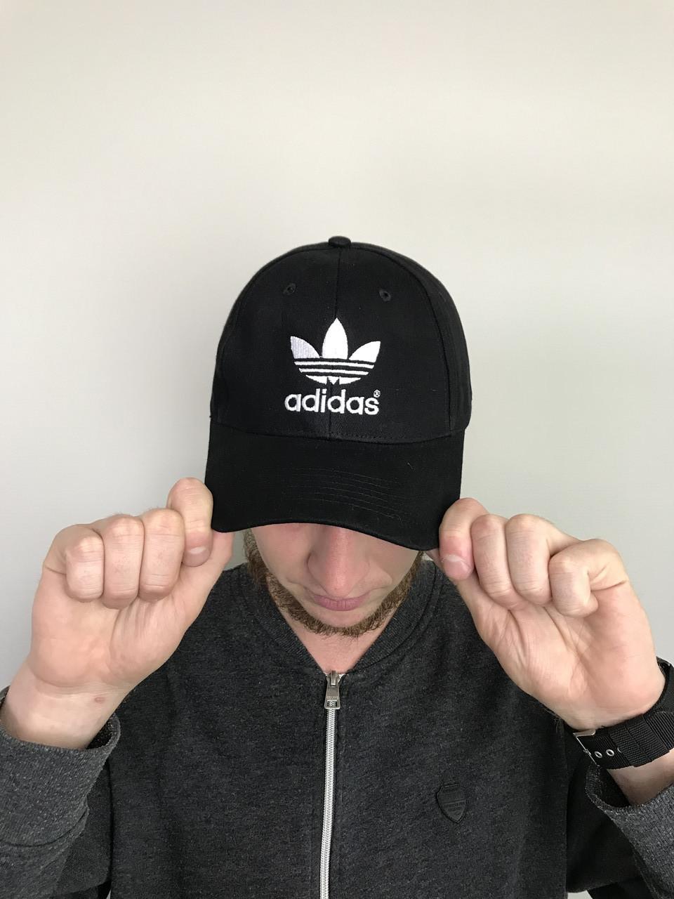 Кепка бейсболка мужская Adidas Адидас (черный цвет)