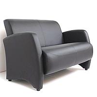 """М'який нерозкладний диван для офісу, залу очікування, HoReCa """"Берлін"""" для 2-х осіб"""
