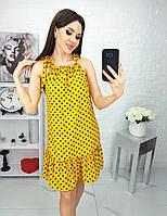 Платье яркое, в горошек, нарядное, стильное, фото 1