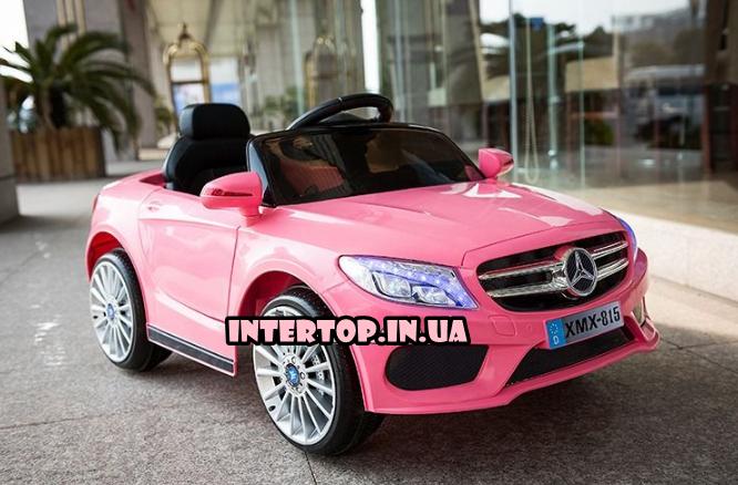 Дитячий електромобіль на пульті Mercedes на амортизаторах, M 2772EBLR-8 рожевий