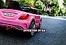Дитячий електромобіль на пульті Mercedes на амортизаторах, M 2772EBLR-8 рожевий, фото 10