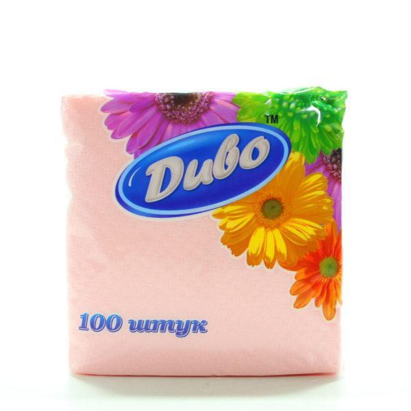 Серветки паперові  «Диво» рожеві 24х24см 100 шт