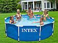 Каркасний круглий, збірний басейн Intex 28202 NP з картриджних фільтрів-насосом (220-240 V) (305*76 см), фото 4