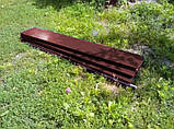 Бордюр для грядок оцинкованный Mavens, коричневый, 120 х 480 х 38 см, (04-0018), фото 3