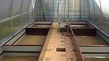 Бордюр для грядок оцинкованный Mavens, коричневый, 120 х 480 х 38 см, (04-0018), фото 5