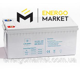Аккумулятор гелиевый AXIOMA energy AX-GEL-200 (12 В, 200 А/ч)