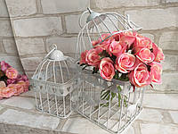 Набор из двух садовых клеток для живых цветов и композиций, р-ры 14х14х23 см., 11х11х19 см., 250 грн., фото 1