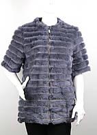 Жилетка норковая с рукавом три четверти PARADISE 2126 blue, фото 1