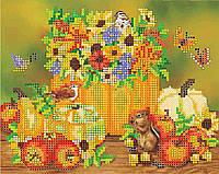 """Схема для вышивания бисером на художественном холсте """"Праздник осени"""""""