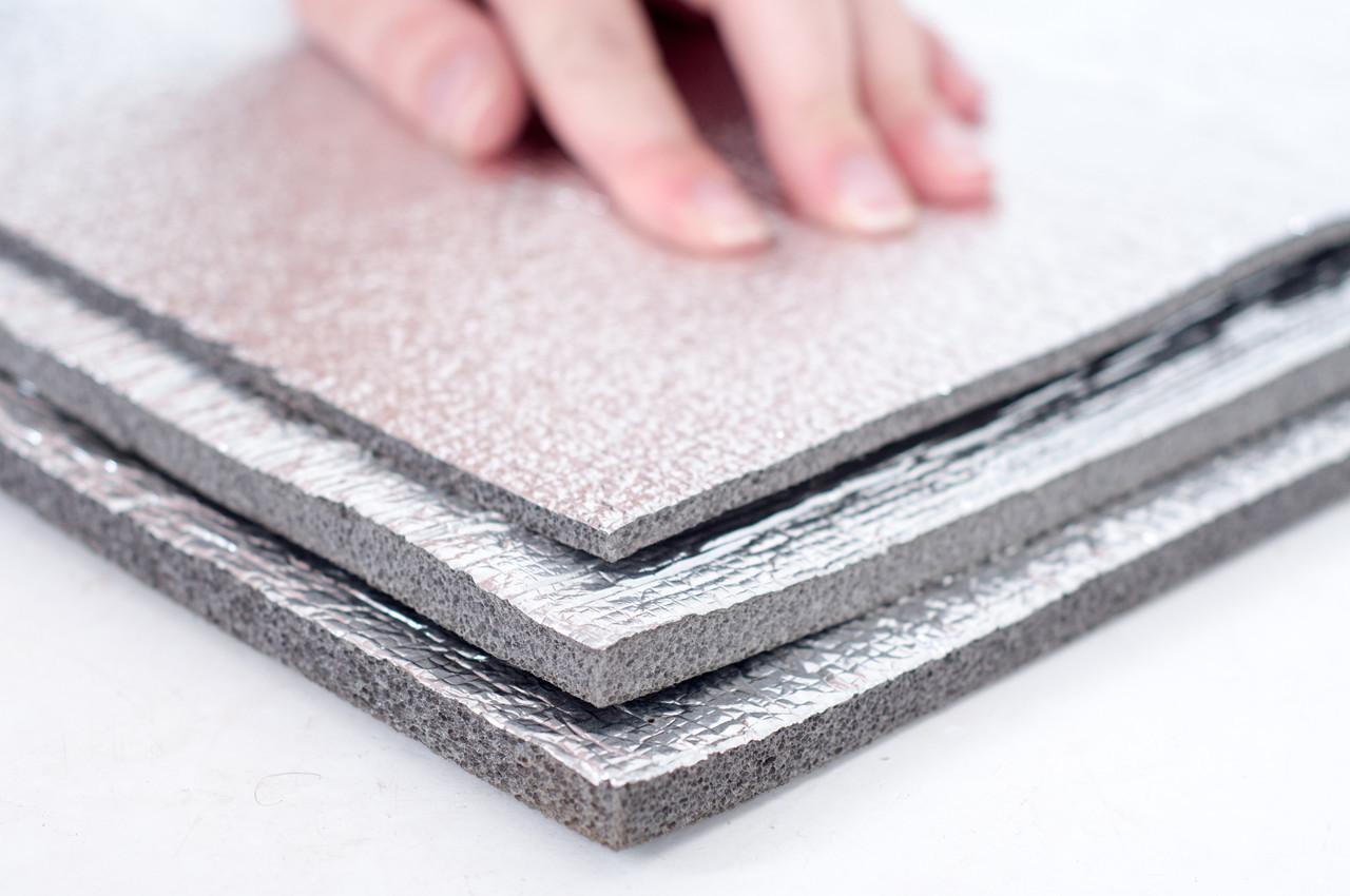 Хімічно зшитий пінополіетилен, т. 5 мм, фольгирован алюмінієвою фольгою, TERMOIZOL®