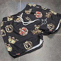 Мужские плавательные шорты Dolce&Gabbana CK588 черные