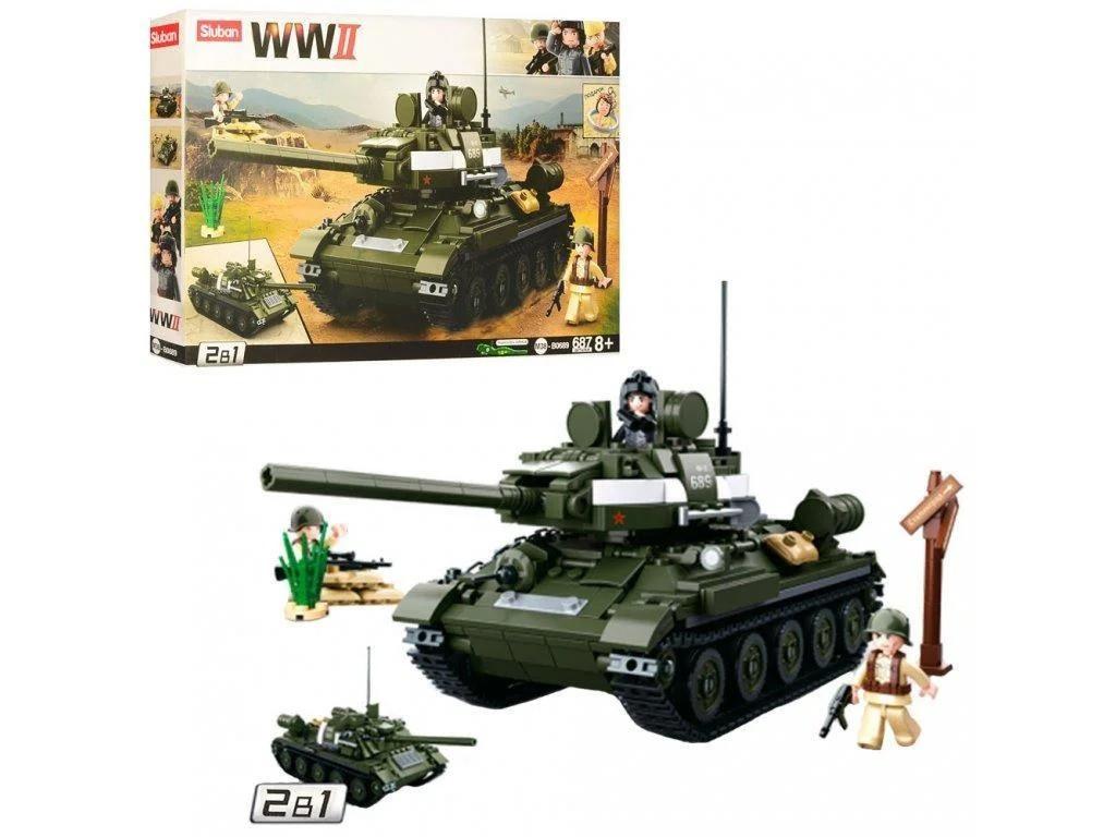 Конструктор Sluban M38-B0689 Танк 2 в 1 из серии Армия 687 деталей