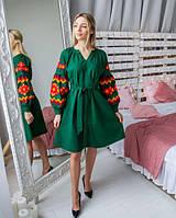 Чарівне молодіжне плаття-вишиванка в українському стилі